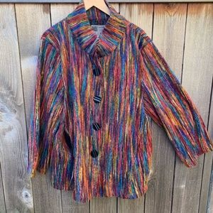 Habitat Rainbow Multi-Color Jacket Coat Cardigan